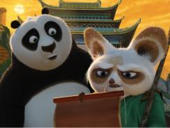 (Jack Black) and Shifu (Dustin Hoffman) receive troubling news about Lord Shen's plan to take over China.