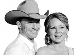 Baby on board: Jewel and Ty Murray are expecting their first child.