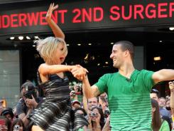 Mark and Chelsea take the floor one last time during the post-'DWTS' press blitz Wednesday in New York.