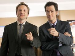 Totally off the point: Jared Franklin (Breckin Meyer), left, and Peter Bash (Mark-Paul Gosselaar) aren't typical courtroom lawyers, but their antics catch the attention of a big L.A. law firm.