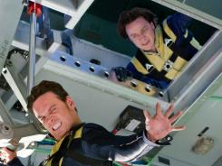 Deadly games: Michael Fassbender, left, and James McAvoy play youthful versions of Magneto and Professor X in X-Men: First Class, which is set in the early 1960s at the height of the Cold War.