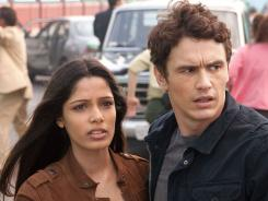 Fateful discovery: Freida Pinto and James Franco play scientists.