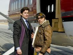 Ready for takeoff: Matt Bomer, left, stars as con man Neal Caffrey, and Willie Garson is his friend Mozzie in 'White Collar.'