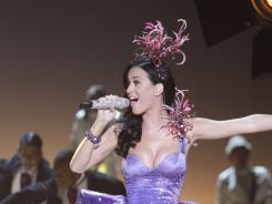 Model performance: The style-conscious Katy Perry was a perfect fit for the Victoria's Secret 2010 Fashion Show in New York City.