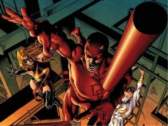 Daredevil joins Ms. Marvel, Iron Fist and Spider-Man in the New Avengers lineup starting in issue 16.