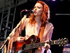 Musician/vocalist Karen Elson performs during the 2011 Bonnaroo Music And Arts Festival on June 9, 2011 in Manchester, Tennessee.