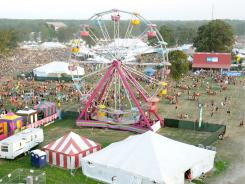 A general view of  the 2011 Bonnaroo Music and Arts Festival on June 9 in Manchester, Tenn.