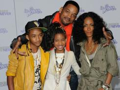 Happily married for 14 years: Will Smith and his wife, Jada Pinkett Smith, with son Jaden and daughter Willow.