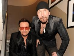 Bono, left, and The Edge co-wrote the music and lyrics for the Broadway musical Spider-Man: Turn Off the Dark.