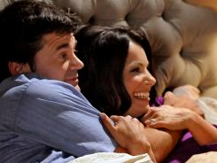 Fran Drescher and John Michael Higgins in 'Happily Divorced,' on the middle-age nostalgia channel.