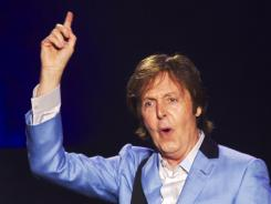 Paul McCartney performs last month in Rio de Janeiro, He kicks off his On the Run tour in July in the USA.