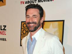 Jon Hamm arrives at the Critics' Choice Television Awards at  the Beverly Hills Hotel on Monday.