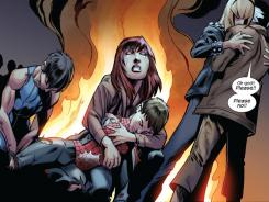 Brian Michael Bendis writes an emotional finale to the current story line in Ultimate Spider-Man issue 160.