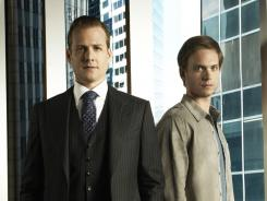 Harvey (Gabriel Macht) takes a risk by hiring scammer Mike (Patrick Adams).