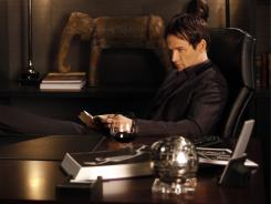 Vampire Bill (Stephen Moyer), given his walking papers by Sookie, feels threatened by the witches.