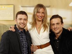 Hot for teacher: Justin Timberlake, left, Cameron Diaz, and Jason Segel go back to school in the comedy BadTeacher, in theaters Friday. Before that, they shared memories of junior high school with USA TODAY.