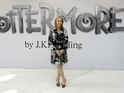British author J.K. Rowling announced her new website project, Pottermore, at the Victoria and Albert Museum in London on Thursday.  For the Pottermore project, Rowling has written new material about the characters, places and objects in the Harry Potter stories.