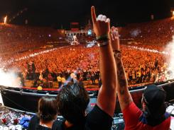 Swedish House Mafia perform at Electric Daisy Carnival in Los Angeles in 2010. This year's festival will take place in Las Vegas, June 24-26, at Las Vegas Motor Speedway.
