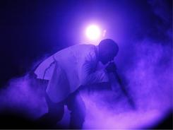 Kanye West performs at the 2011 Essence Music Festival in New Orleans, Saturday, July 2.