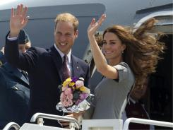 Au revoir, Ottawa! The Duke and Duchess of Cambridge board their plane to Montreal on Saturday.