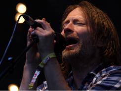 Radiohead performs at Glastonbury Festival in England.