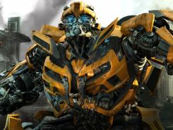 Bumblebee's transformation from a yellow Camaro into an Autobot helps make a mess of Chicago.
