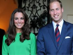 Catherine, Duchess of Cambridge, and Prince William, Duke of Cambridge, attend a private reception held at the British Consul-General's residence Friday night.