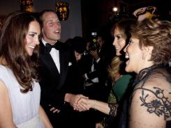 Prince William, Duke of Cambridge and Catherine, Duchess of Cambridge, chat with Jennifer Lopez and her mother Guadalupe Lopez at the BAFTA Brits To Watch event.