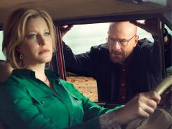 Not your average family guy:  Anna Gunn and Bryan Cranston are back for another tension-filled, blood-soaked season of  Breaking Bad , which premieres Sunday (AMC, 10 p.m. ET).