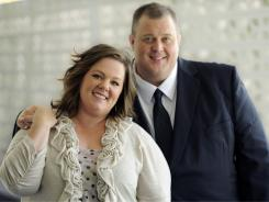 """Melissa McCarthy and Billy Gardell star in """"Mike & Molly,"""" a sitcom about a couple who meet at Overeaters Anonymous and fall in love."""