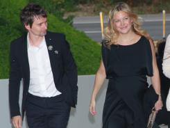 Matthew Bellamy and Kate Hudson attend Chanel's benefit dinner for the Natural Resources Defense Council's Ocean Initiative at the home of Ron & Kelly Meyer on June 4  in Malibu, Calif.