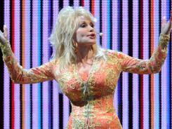 Parton performs   at the Thompson-Boling Arena on July 17  in Knoxville, Tenn.