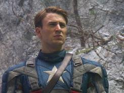 All that's missing is that mighty shield:  Chris Evans has the titular role in  Captain America: The First Avenger , in theaters Friday.