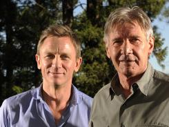 In jeans:  Daniel Craig and Harrison Ford co-star in 'Cowboys & Aliens,' much of which was filmed in New Mexico.