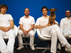 Andy Ross, Dan Konopka, Damian Kulash, Tim Nordwind of the musical group  OK Go.