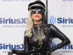 Lady Gaga visits 'The Morning Mash Up'  at SiriusXM Studio on July 18 in New York City.