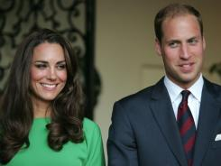 William and Catherine at a private reception at the British Consul-General's residence in Los Angeles on July 8.