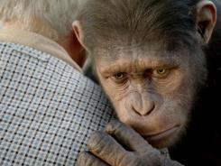 Caesar, raised by a scientist at home, bonds with the scientist's father, Charles (John Lithgow), who has Alzheimer's.
