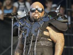 Lo Green performs during the Lollapalooza music festival  on Saturday.