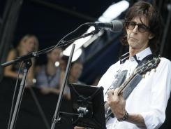 Cars' Ric Ocasek performs during Lollapalooza in Chicago on Sunday.