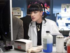 "Offbeat genius Abby Sciuto (Pauley Perrette) is on the case on ""NCIS."""