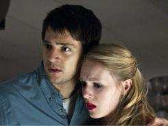 Stayin' alive?  Nicholas D'Agosto and Emma Bell try to elude Death in  Final Destination 5 .