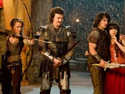 "Isabel (Natalie Portman), Thadeous (Danny McBride), Fabious (James Franco) and Belladonna (Zooey Deschanel) are on a grand adventure in  ""Your Highness."""