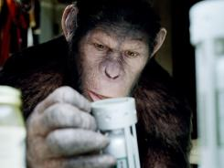 Rise of the Planet of the Apes, featuring Caesar the CG chimp portrayed by Andy Serkis, was No. 1 for the second week in a row.
