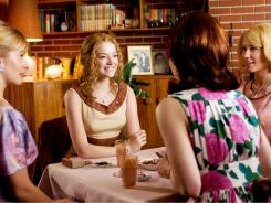 Ladies who lunch:  Dresses worn by Ahna O'Reilly, left, Emma Stone, Bryce Dallas Howard and Anna Camp in 'The Help'  aren't far from today's trends.