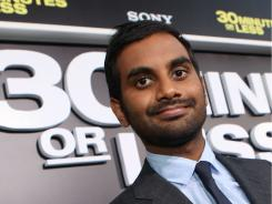 Armed and humorous:  Aziz Ansari plays a clueless bank robber in the new comedy 30 Minutes or Less.
