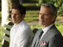 Hank (Mark Feuerstein) discovers a new wrinkle in Boris' (Campbell Scott) medical mystery.  Will it prolong his tenure on 'Royal Pains?'