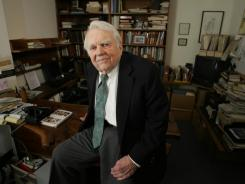 Writer and television commentator Andy Rooney in his CBS office in New York City on Jan. 8, 2010.