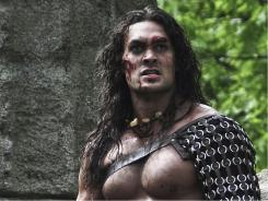 He's no Schwarzeneggar: Jason Momoa has the titular role in the remake of Conan the Barbarian.