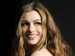 Always turning heads:  Anne Hathaway slips into a British accent for the love story  One Day,  out today.